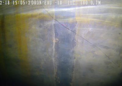 Inspection du réservoir par drone sous-marin